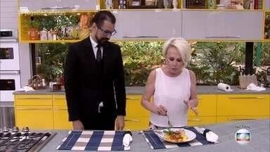 Ana Maria Braga experimenta o prato principal de Jean - Apresentadora aprova a receita do cerimonialista