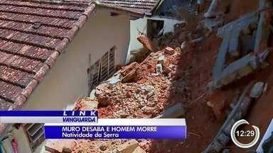 Comerciante de 50 anos morre após muro desabar em Natividade da Serra - Cidade foi atingida por forte chuva na madrugada.