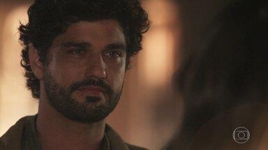 Inácio se despede de Maria Vitória - Ele pede a Vicente para cuidar bem de Mariana e de Maria Vitória
