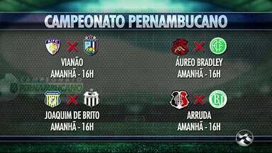 Confira os jogos deste fim de semana do Campeonato Pernambucano - Disputas vão acontecer no domingo (4), às 16h e 17h.