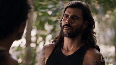 Mariano alerta Zé Victor para um possível deslizamento de terra - O novo chefe do garimpo não dá atenção e se recusa a falar com Sophia