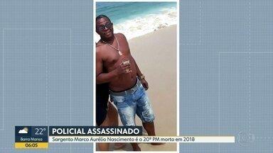 Policial Militar é assassinado em Campo Grande - O sargento Marco Aurélio Nascimento foi o vigésimo morto por bandidos em 2018. Ele chegava em casa quando foi assassinado.