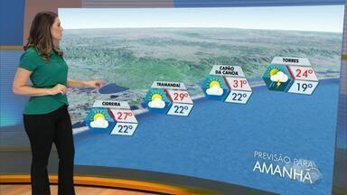 Tempo: sábado (10) deve ser com predomínio de sol no RS - Assista ao vídeo.