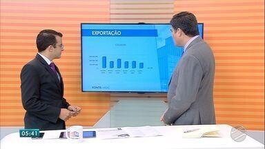 Aldo Barrigosse analisa crescimento no saldo da balança comercial de MS - Após quatro anos deficitário, entre 2010 e 2013, o saldo da balança comercial de Mato Grosso do Sul disparou de US$ 8,3 milhões, em 2014, para US$ 2,118 bilhões, em 2017.