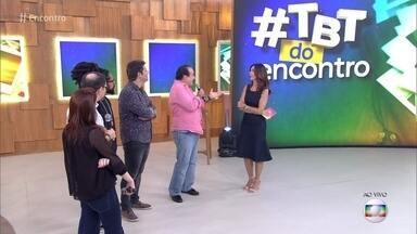 #TBT do Encontro - Rael relembra foto de infância e Tony Ramos recebe mensagem de amigos