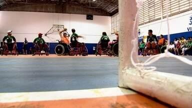 Marcos Paiva joga Handebol adaptado - No Dia da Inclusão no Esporte, Marcão joga handebol adaptado.