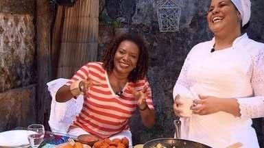 Cantora Margareth Menezes e chefe Paula Bandeira participam do 'Conversa na Cozinha' - Cantora Margareth Menezes e chefe Paula Bandeira participam do 'Conversa na Cozinha'