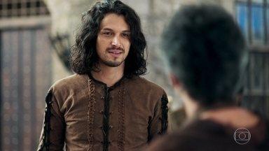 Afonso consegue emprego na ferraria de Emanuel - O ex-príncipe comemora por arrumar um trabalho