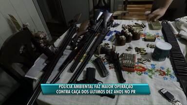 Polícia Ambiental faz operação contra caçadores na região Oeste - 18 pessoas foram presas na operação que é considerada a maior dos últimos dez anos no Paraná.