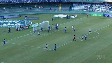 Coritiba vence o Cianorte por 1 a 0 no Couto Pereira - O único gol da partida saiu no início do segundo tempo, depois de uma atrapalhada do goleiro do Cianorte.