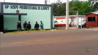 Detento suspeito de balear outro preso é morto durante briga no Presídio de Alegrete - Assista ao vídeo.