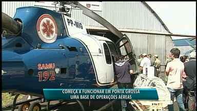 Base aérea inaugurada terá dois helicópteros em Ponta Grossa - Um deles será para salvamento médico e outro para uso da polícia.