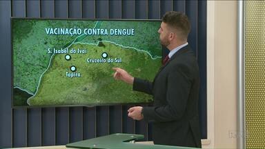 Três cidades do Noroeste começam nova fase da vacinação contra a dengue - A última dose da vacina será aplicada a partir desta terça-feira, 20.