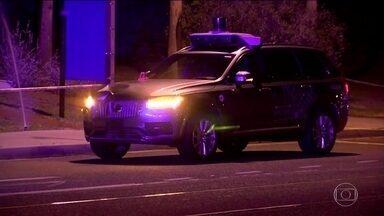 Uber suspende testes com carro autônomo depois de acidente - Mulher morreu, nos EUA, atropelada por carro dirigido por computador.