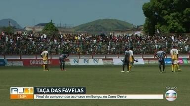 Final da Taça das Favelas acontece em Bangu - Na final feminina, a equipe da Caixa D'Água de Padre Miguel venceu a partida contra o Corte Oito de Duque de Caxias por dois a um. Já na final masculina, o Caixa D'Água de Padre Miguel enfrenta a Vila Aliança de Bangu.