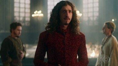 Rodolfo briga com Petrônio e Orlando por ter virado chacota - Ele os chama de incompetentes e pede sugestões de nomes para ocupar o cargo de Cássio