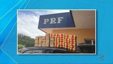 PRF apreende 62 kg de cocaína na BR-262, MS - O motorista disse aos policiais que pegou a droga no Paraguai e que a levaria para São Paulo.