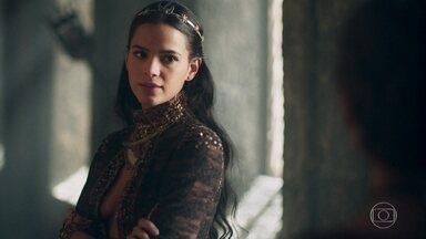 Catarina comenta com Lucíola que teme um filho de Afonso e Amália - Ela decide separar o casal