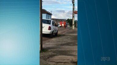 Preso que fugiu da cadeia de Jaguariaíva é recapturado - Vídeo mostra o momento que os presos correm pela cidade.