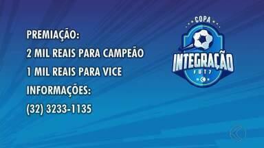 Copa Integração Fut 7 está com inscrições abertas - Times com participantes a partir dos 16 anos vão disputar o torneio de 22 de abril a 27 de maio