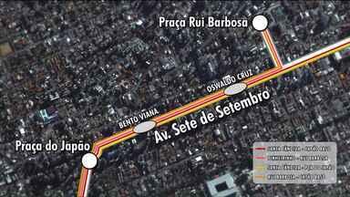 Entenda por que passageiros reclamam das mudanças no transporte com a linha Ligeirão Norte - Antes, duas linhas passavam pela região, agora são quatro.