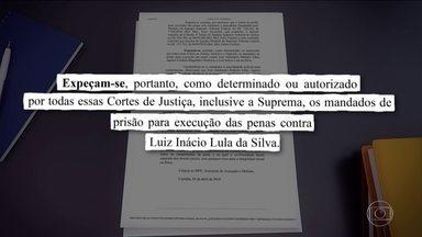 Moro decreta prisão de ex-presidente Lula; HC foi negado pelo Supremo - Juiz de Curitiba recebeu o ofício do TRF-4, que confirmou a condenação do ex-presidente, determinando a execução da pena.