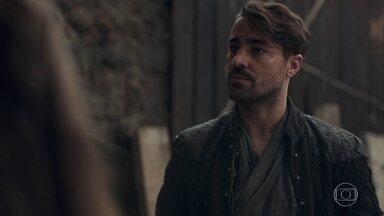 Virgílio diz a Afonso que quer participar do grupo - Ele finge estar descontente com o reinado de Rodolfo