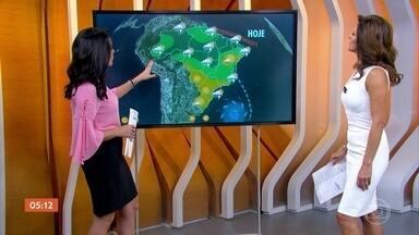 Veja a previsão do tempo para esta segunda-feira (9) em todo o Brasil - A semana começa com mais chuva no centro-norte do país. No domingo (8), os maiores acumulados de chuva já ficaram concentrados entre o Norte e o Nordeste.