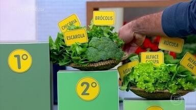 Como preparar as folhas verdes e manter os nutrientes - Não existe diferença entre comer crua e cozida. As propriedades nutrucionais continuam.