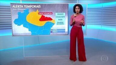 Confira a previsão do tempo para o Brasil nesta quarta-feira (11) - Chuva em parte do Norte e Nordeste. Tempo seco no Sul