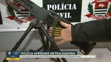 Homem é preso com arma de guerra em Ribeirão Preto - Fuzil ponto 30 estava em um salão de festas na zona leste.