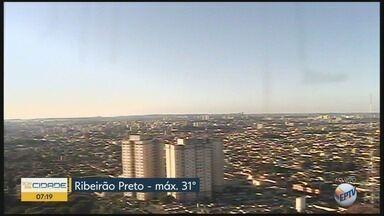 Temperatura máxima chega a 31°C nesta quarta-feira (11) em Ribeirão Preto - Não há previsão de pancadas de chuva.