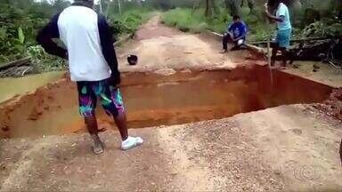 Pelo menos 350 famílias indígenas ficam ilhadas por causa da chuva no norte do Tocantins - Pelo menos 350 famílias indígenas ficam ilhadas por causa da chuva no norte do Tocantins