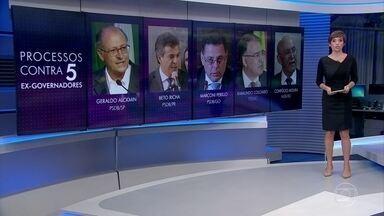 PGR pede que inquéritos de 5 ex-governadores sejam enviados para a 1ª instância - Geraldo Alckmin, Beto Richa, Marconi Perillo, Raimundo Colombo e Confúcio Moura perderam o foro privilegiado ao renunciar ao cargo
