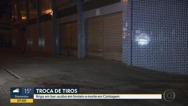 Briga em bar termina com dois mortos em Contagem; um deles era policial civil - Confusão foi na madrugada desta sexta-feira (13) no bairro Santa Cruz Industrial.