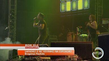 Wesley Safadão e Mc Kevinho agitam público em Bragança Paulista - Shows aconteceram na noite de quinta na Expoagro.