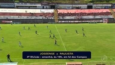 Pela Segundona, Paulista visita o Joseense neste sábado - O Paulista visita o Joseense neste sábado, às 10h, no estádio Martins Pereira, em São José dos Campos, pela segunda rodada do Campeonato Paulista da Segunda Divisão.
