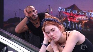 Ana Clara e Kaysar ultrapassam limites e disputam imunidade - Ayrton e Gleici se preocupam com os dois