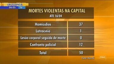 Florianópolis registra duas mortes violentas em menos de dez horas - Florianópolis registra duas mortes violentas em menos de dez horas