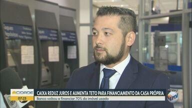 Caixa Econômica Federal diminui juros para financiamento imobiliário - Banco voltou a financiar 70% dos imóveis usados.