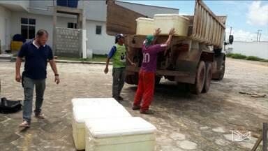 Caminhão que transportava alimentos foi apreendido na região do Vale do Pindaré - O caminhão transportava carne e queijo.