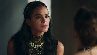 Catarina e Lucíola conversam sobre Diana - Rodolfo ordena que Orlando e Petrônio escolham alguém para ser enforcado. Mirtes se despede do Convento