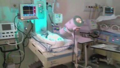 UTI Neonatal fica inundada após chuva em Praia Grande - Recém-nascidos precisaram ser transferidos para outro setor do Hospital Irmã Dulce, no domingo (15).