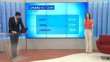 Chuvas são prevista apenas para a região norte do Ceará, nesta quinta-feira (19) - Saiba mais em g1.com.br/ce