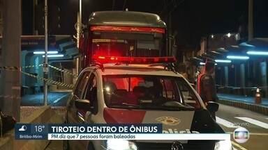 Tiroteio dentro de ônibus mata três pessoas e deixa quatro feridas no Jabaquara - Criminosos tentaram fazer um arrastão, mas um policial militar que estava à paisana reagiu.