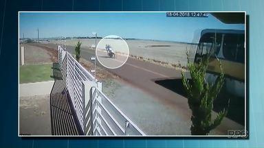 Abelhas podem ter causado acidente com duas mortes no Sudoeste do Estado - Motociclista invadiu a outra pista e bateu em ônibus escolar