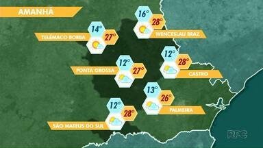 Sexta-feira (19) vai ser de sol e temperaturas agradáveis na região de Ponta Grossa - O tempo fica seco. Confira a previsão.