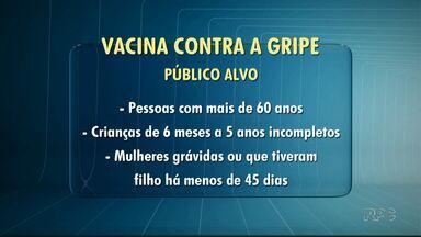 Secretaria Estadual de Saúde confirma quinta morte por gripe no Paraná - A campanha de vacinação começa na próxima segunda-feira (23). Na região de Londrina 274 mil pessoas tem direito a tomar a dose de graça nos postos de saúde.