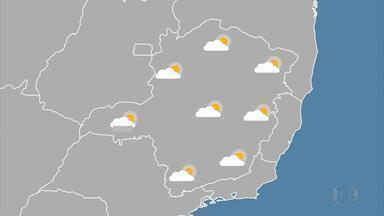 Massa de ar seco deixa tempo estável na maior parte de Minas - Em Belo Horizonte, termômetros podem chegar a 27ºC.