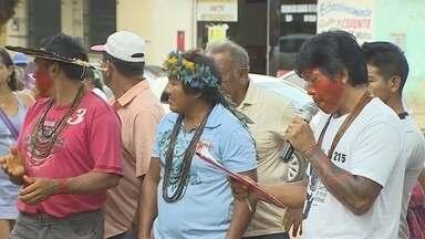Indígenas fazem protesto contra invasões e grilagem em aldeias de Rondônia - Maríndia Moura.